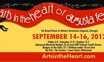 Arts in the Hearts of Augusta Festival kicks off this evening September 14-16, 2012