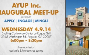 Augusta Young Urban Professionals, Inc Inaugural Meet-Up: Masters Week April 9th.