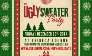The Ugly Sweater Party (Toy drive) this Friday 12/19.